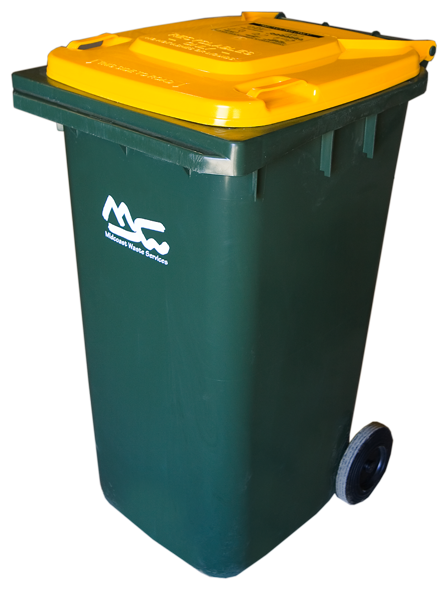 Yellow Bin for Recycling